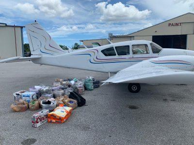 Supplies plane